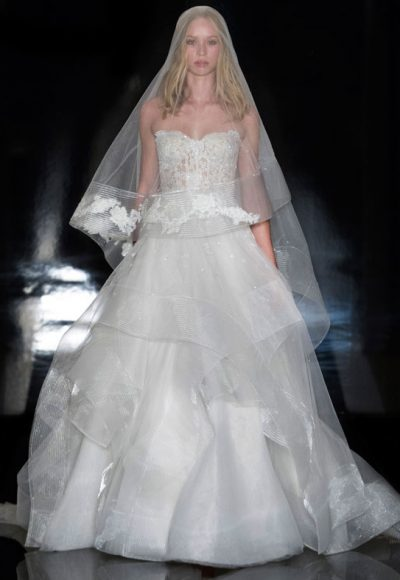 Classic Ball Gown Wedding Dress by Reem Acra