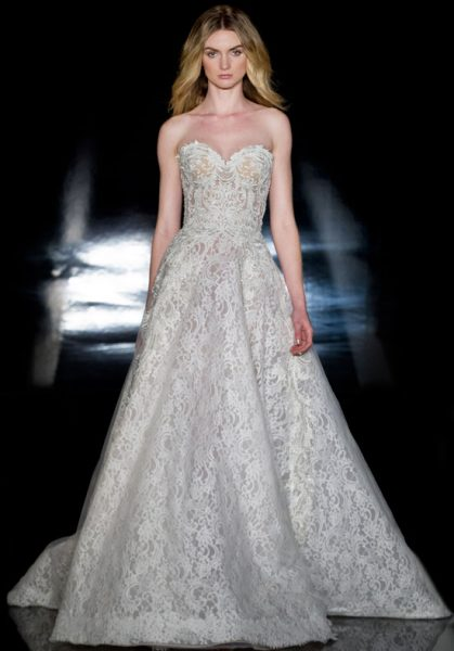Classic Ball Gown Wedding Dress by Reem Acra - Image 1