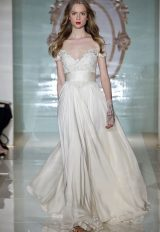 Couture A-line Wedding Dress by Reem Acra - Image 1