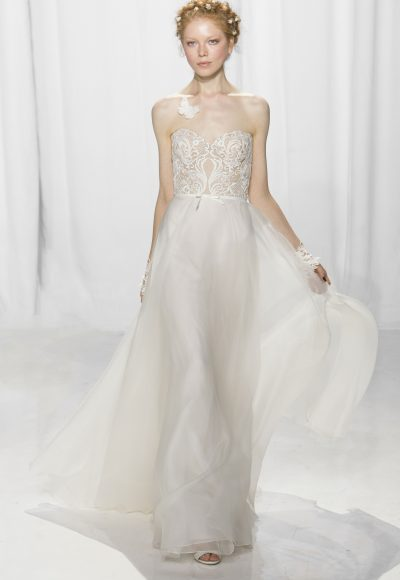 Romantic Sheath Wedding Dress by Reem Acra