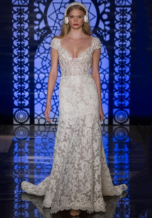 Sheath Wedding Dress by Reem Acra - Image 1