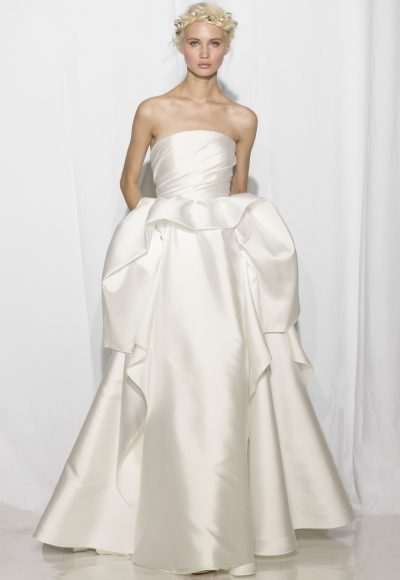 Simple Ball Gown Wedding Dress by Reem Acra