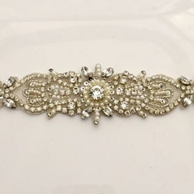 Crystal Belt In Ivory by Unapologetic Magpie