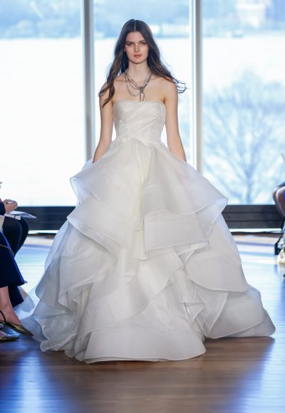 Modern Ball Gown Wedding Dress by Rivini
