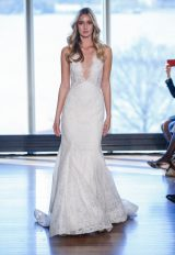 Modern Fit And Flare Wedding Dress by Rivini - Image 1