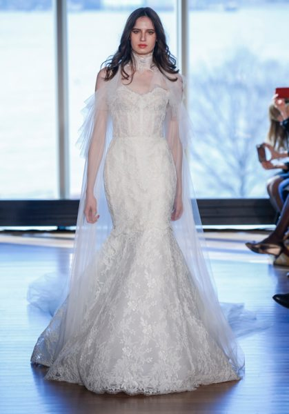 Modern Mermaid Wedding Dress by Rivini - Image 1