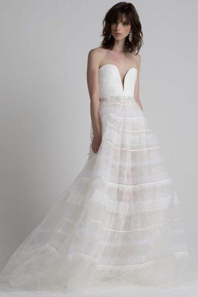 Modern Ball Gown Wedding Dress by Sachin & Babi - Image 1