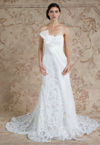 Simple A-line Wedding Dress by Sareh Nouri