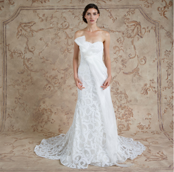 Simple A-line Wedding Dress by Sareh Nouri - Image 1