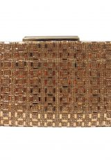 Clutch Purse In Gold by Sondra Roberts - Image 1