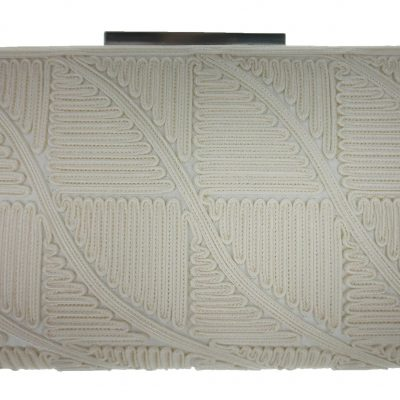 Clutch Purse In Ivory by Sondra Roberts