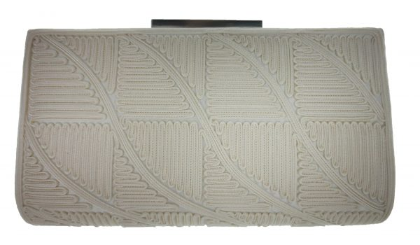 Clutch Purse In Ivory by Sondra Roberts - Image 1
