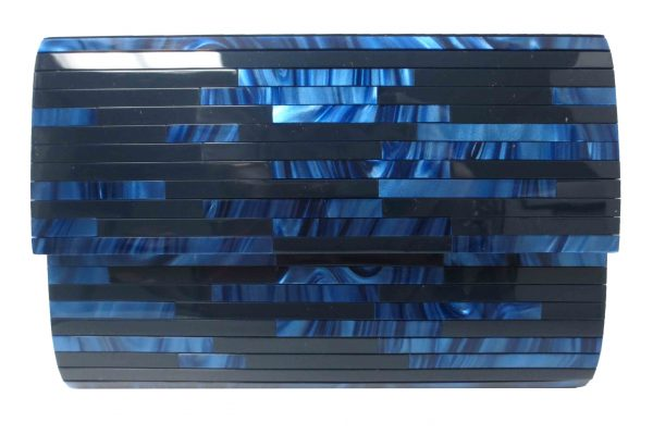 Clutch Purse In Navy by Sondra Roberts - Image 1