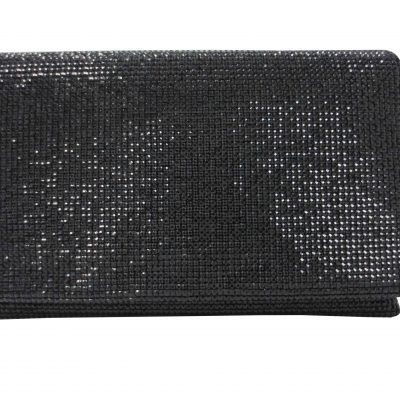 Crystal Clutch In Black by Sondra Roberts