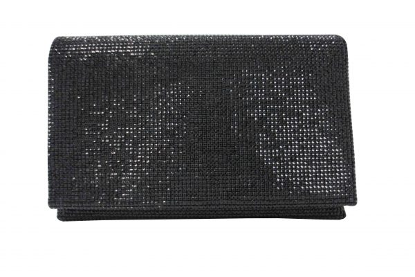 Crystal Clutch In Black by Sondra Roberts - Image 1