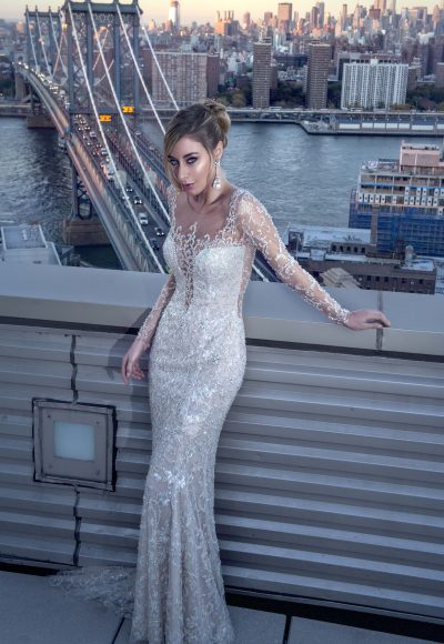 Sheath Wedding Dress by Stephen Yearick