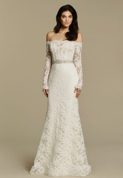 Sheath Wedding Dress by Tara Keely