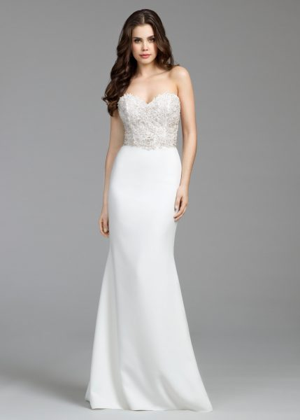Simple Sheath Wedding Dress by Tara Keely - Image 1