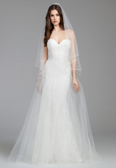 Simple Sheath Wedding Dress by Tara Keely