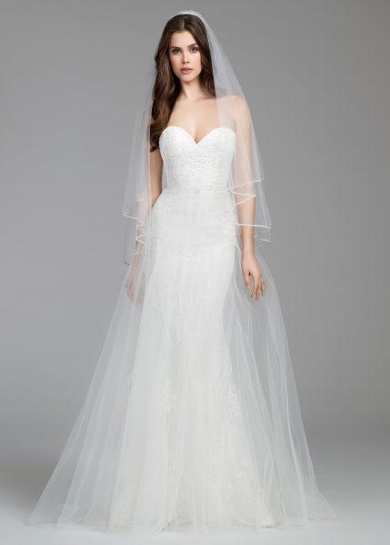 Simple Sheath Wedding Dress by Tara Keely - Image 1