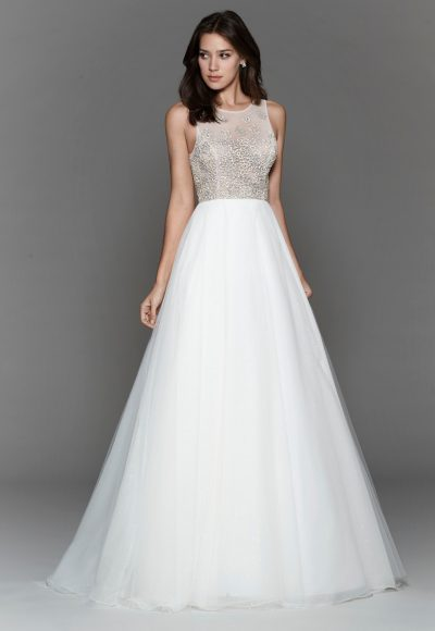 Trendy A-line Wedding Dress by Tara Keely
