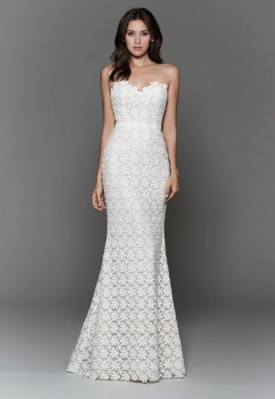 Trendy Sheath Wedding Dress by Tara Keely