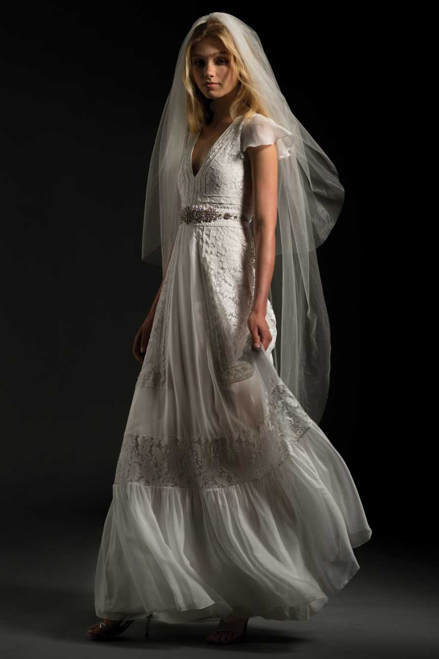 Simple A Line Wedding Dress By Temperley London Image 1 Zoomed In
