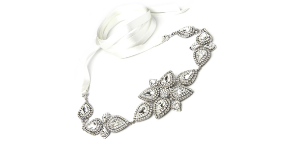 Crystal Belt With White Ribbon by Thomas Knoell - Image 1