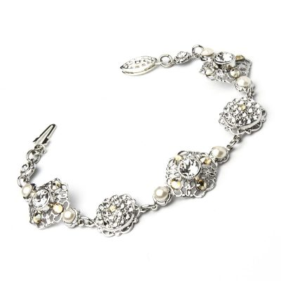 Crystal Bracelet In Silver by Thomas Knoell