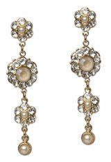 Crystal Earrings In Ivory by Thomas Knoell - Image 1