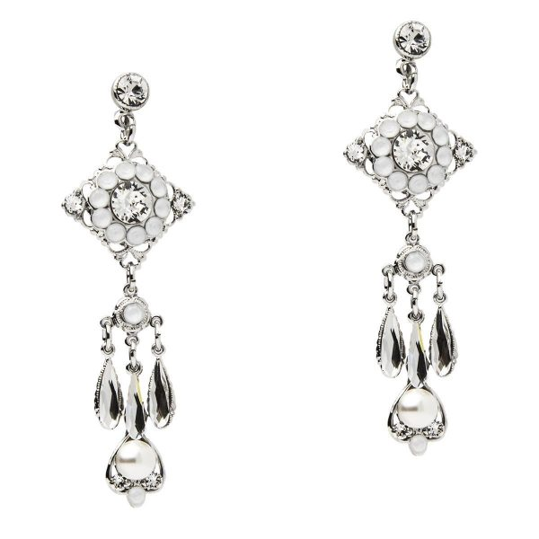 Crystal Earrings In Silver by Thomas Knoell - Image 1