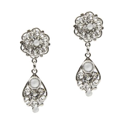 Crystal Earrings In Silver by Thomas Knoell