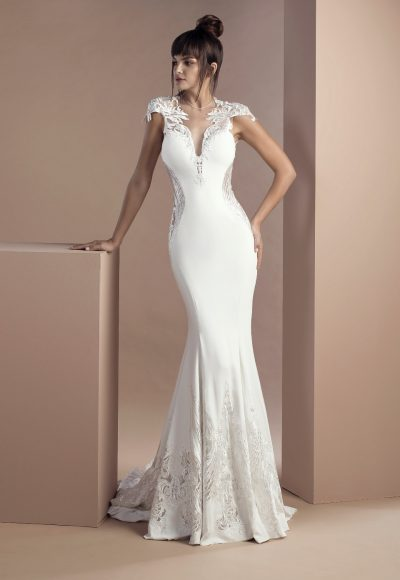 Simple Sheath Wedding Dress by Tony Ward