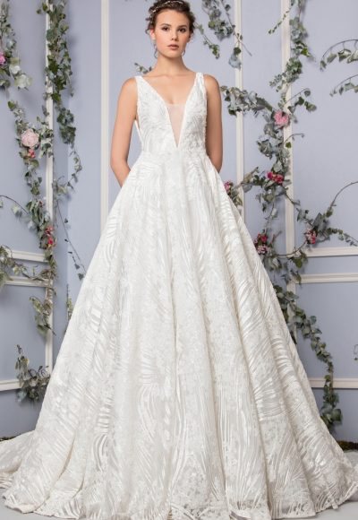 Simple A-line Wedding Dress by Tony Ward