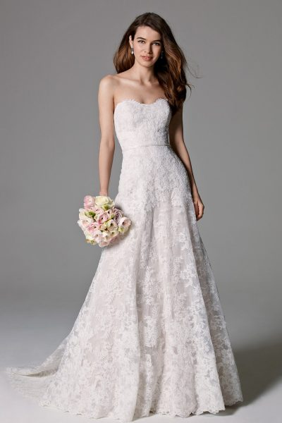 A line wedding dress kleinfeld bridal a line wedding dress by watters image 1 junglespirit Choice Image