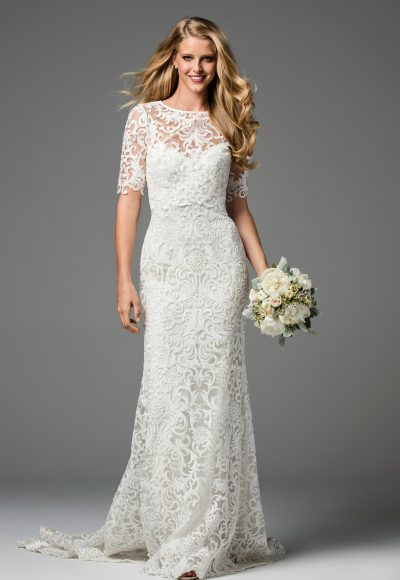 Classic Sheath Wedding Dress by Watters
