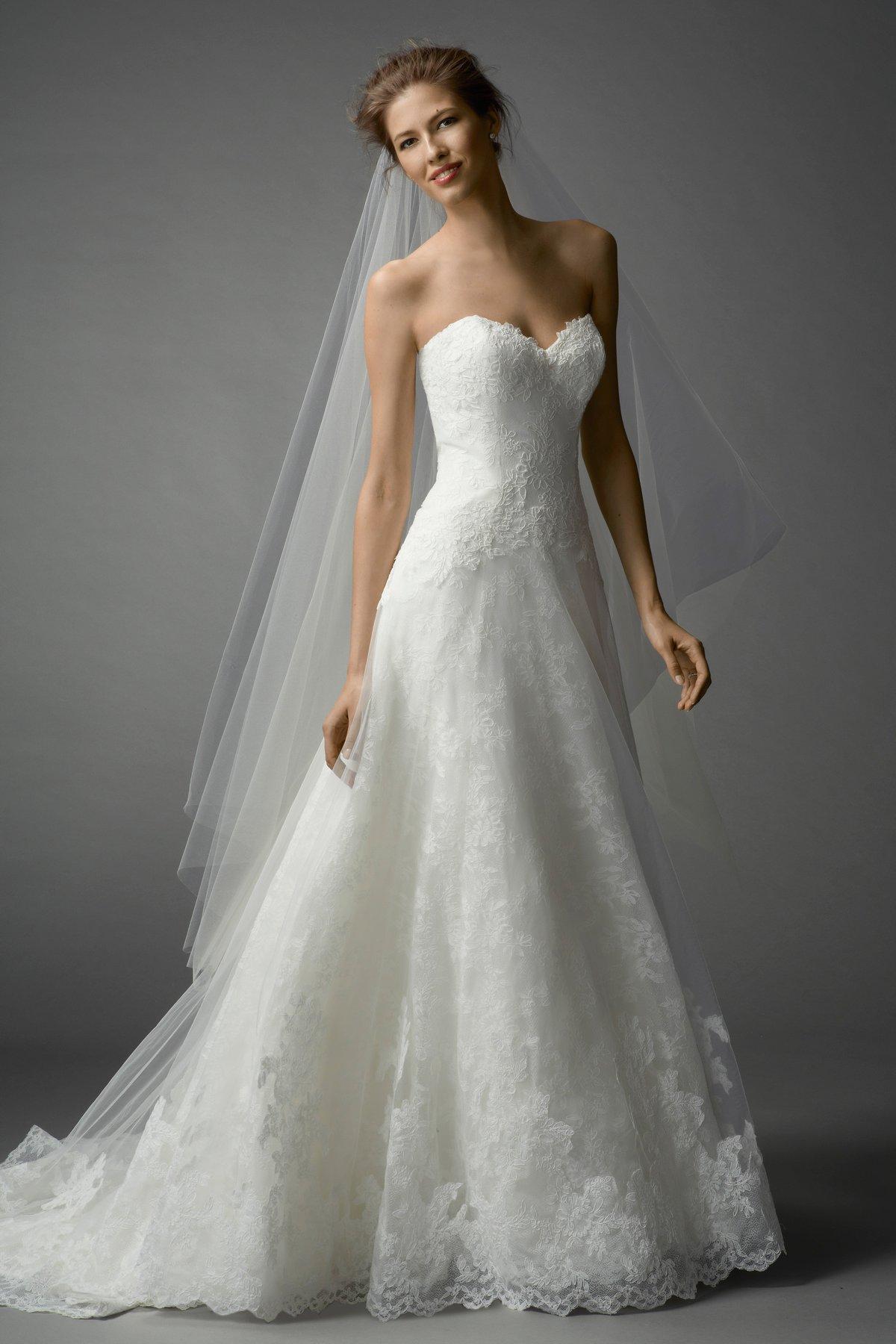 Romantic a line wedding dress kleinfeld bridal junglespirit Images