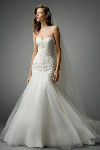 Romantic Fit And Flare Wedding Dress by Watters - Image 1