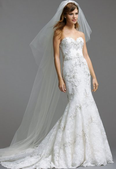 Romantic Fit And Flare Wedding Dress by Watters