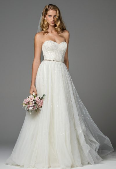 Simple A-line Wedding Dress by Watters