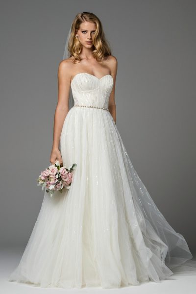 Simple A-line Wedding Dress by Watters - Image 1