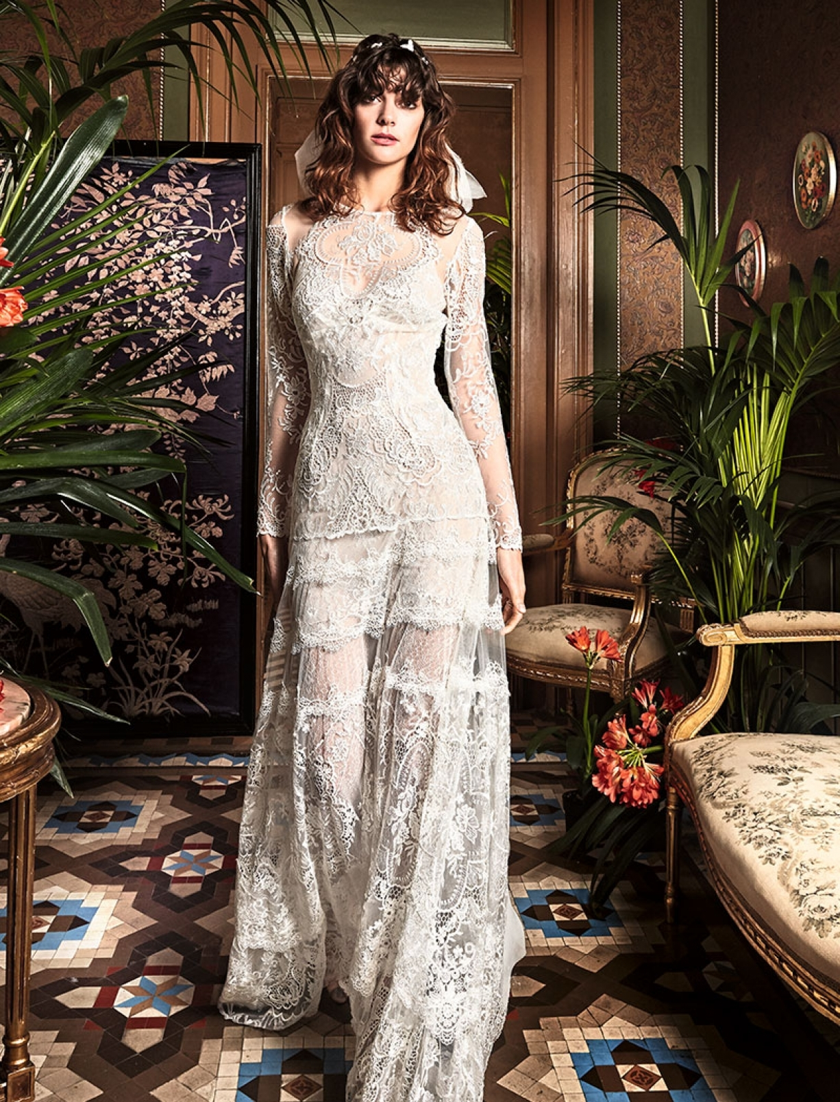 Bohemian A Line Wedding Dress By Yolan Cris