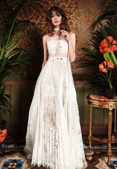 Bohemian A-line Wedding Dress by Yolan Cris