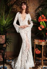 Bohemian Mermaid Wedding Dress by Yolan Cris - Image 1