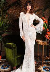 Bohemian Mermaid Wedding Dress by Yolan Cris - Image 1