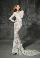 Bohemian Sheath Wedding Dress by Yolan Cris - Image 1