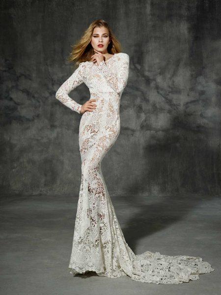Bohemian Sheath Wedding Dress | Kleinfeld Bridal
