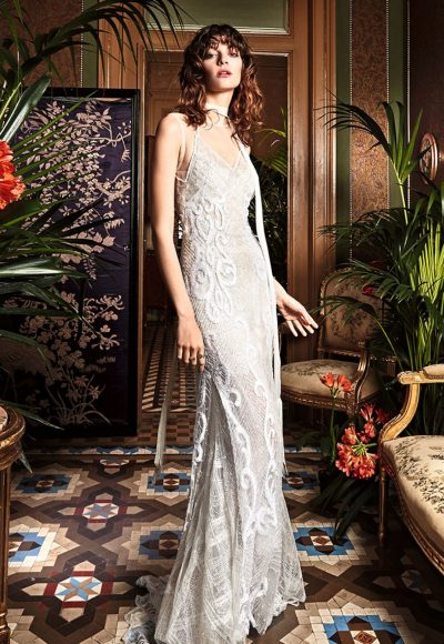 Bohemian Sheath Wedding Dress