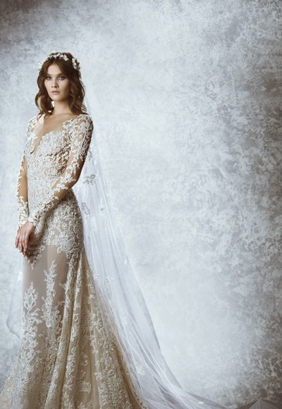 Modern Sheath Wedding Dress by Zuhair Murad
