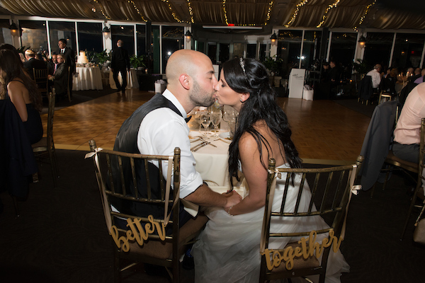 Kleinfeld Bride and Groom Reception Kiss